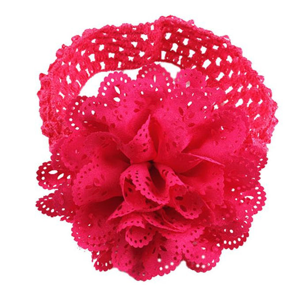 Delicate Hot 2016 Baby Kids Girls Lace Flower Hairband Headband Dress Up Head band 1pc Ma11 xsxl wholesale