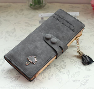 Diamond Umbrella Brands High Quality Design Women Long Wallet Lady Clutch Coin Purse Cute Girl Purse Ladies Female Card Holder