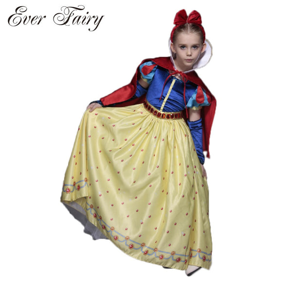 EVER FAIRY Costume Snow White Girls Party Dress Kids Masquerade Dress Christmas Dress Kid Princess Costume Girl Fantasia Vestido