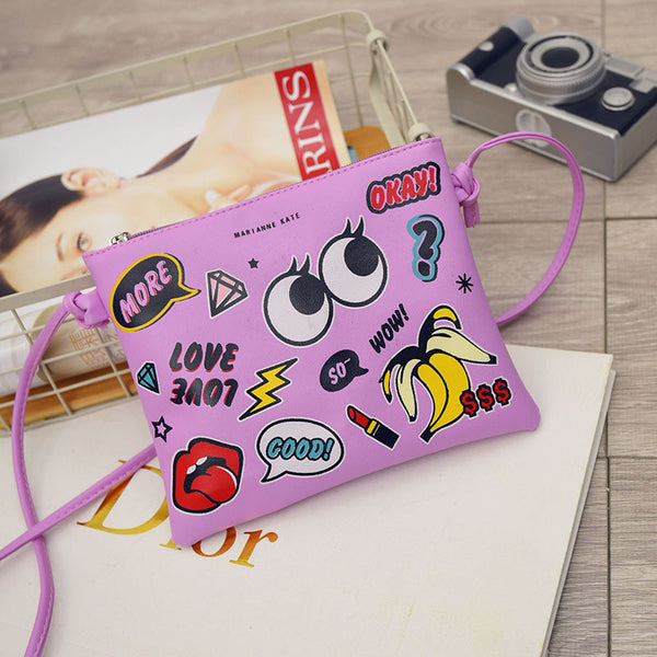 Excelsior Letter Character Pu Handbags Women G0763