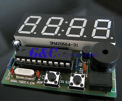 Electronic Clock Electronic Production Suite 4 Bits C51 DIY Kits