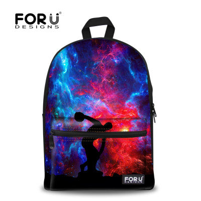 Forudesigns Characters Cotton Fabric Backpacks Women J