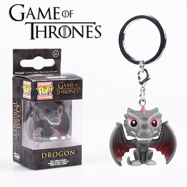 FUNKO POP Harry Potter Hermione Lord Voldemort Keychain Hanger Jon Snow Deadpool Hulk Thor PVC Figure Collection KeyRing Toy