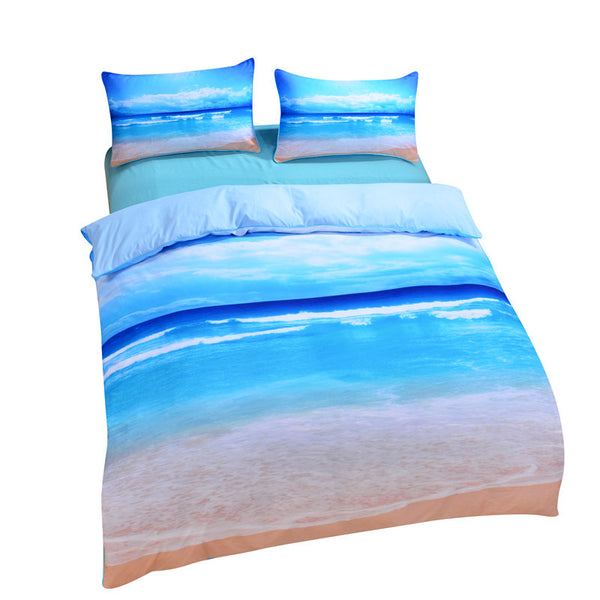 Factory Direct Starfish And Ocean Bedding Set Cool 3D Print Duvet Cover Soft Duvet Cover Set 3pcs Or 4pcs Twin Queen King