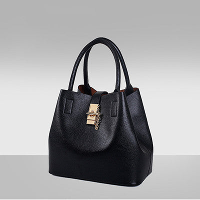 Dizhige Lock Solid Pu Handbags Women Qg003