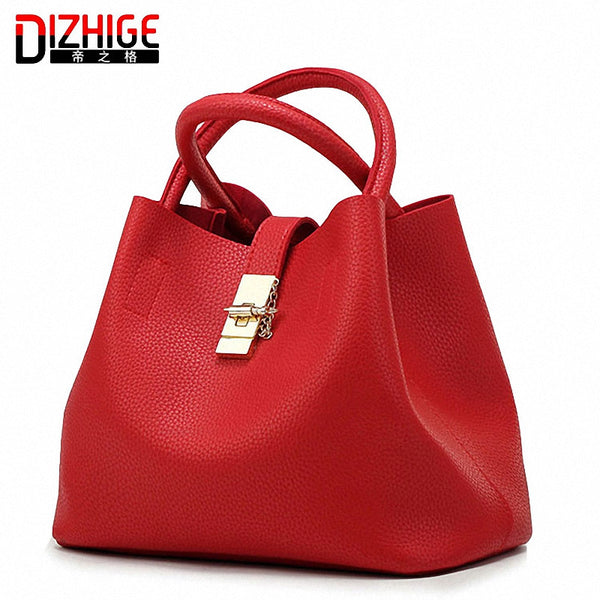 Dizhige Solid Pu Handbags Women Yc0235