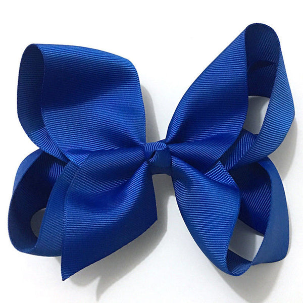 Fashion 6 Inch Cute Infant Boutique Hair Pin Grosgrain Ribbon Bows Hairpins Baby Girl Bows Hair Clips Kids Headwear Accessories