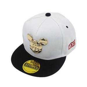 de68f1d2e98 Fashion Boy Baseball Caps 3-8 Years Old Kid Character Metal Logo Design  Snapback Caps