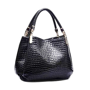 Fashion Crocodile Bags Women Leather Handbag Famous Brand Designer Luxury Lady Handbags Purse Shoulder Bag Bolsas Feminina