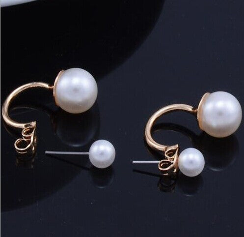 Trendy Zinc Alloy Pearl Stud Earrings Women L0447-l0448
