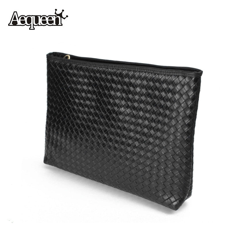 c2913b91ece1 Fashion Women Weave Handbags Leather Bag European American Style Evening  Bags Vintage Lady Envelope Day Clutches ...