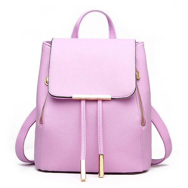 Fashion Women's PU Leather Backpacks School Rucksack for Teenage Girls Ladies Travel Shoulder Satchel Bag Bolsa Mochila Feminina