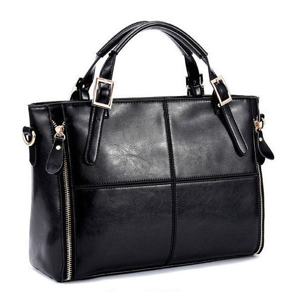 Miwind Rivet Solid Split Leather Handbags Women Wlhb974