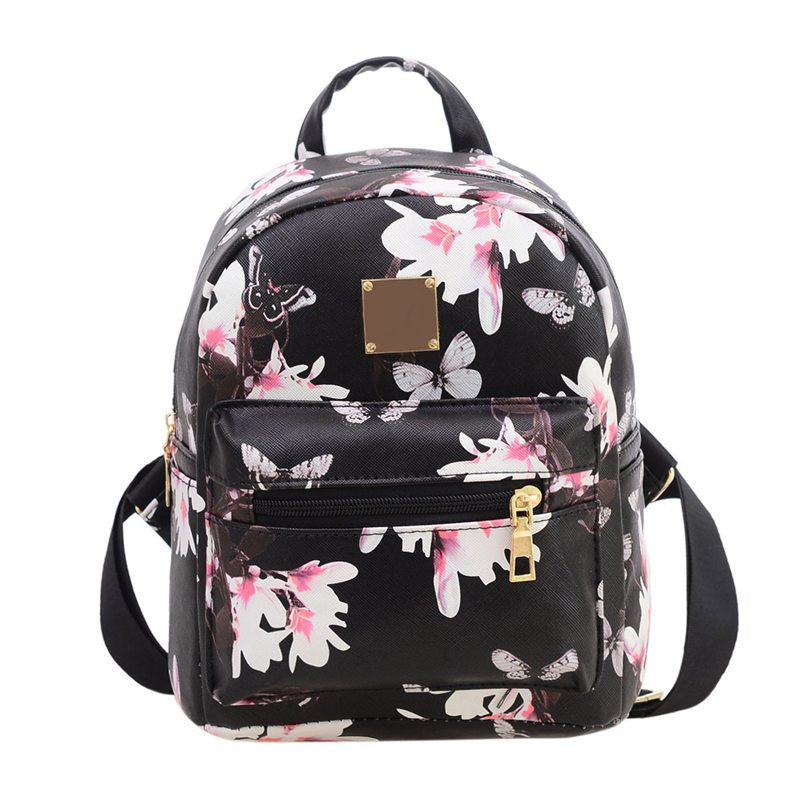Mojoyce Flowers Floral Pu Backpacks Women