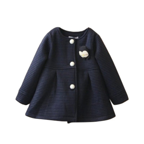 For Girls Spring Children Jackets Baby Little Penguin Single Breasted Child Coat Girl Jackets Bow Girl Clothes Outerwear