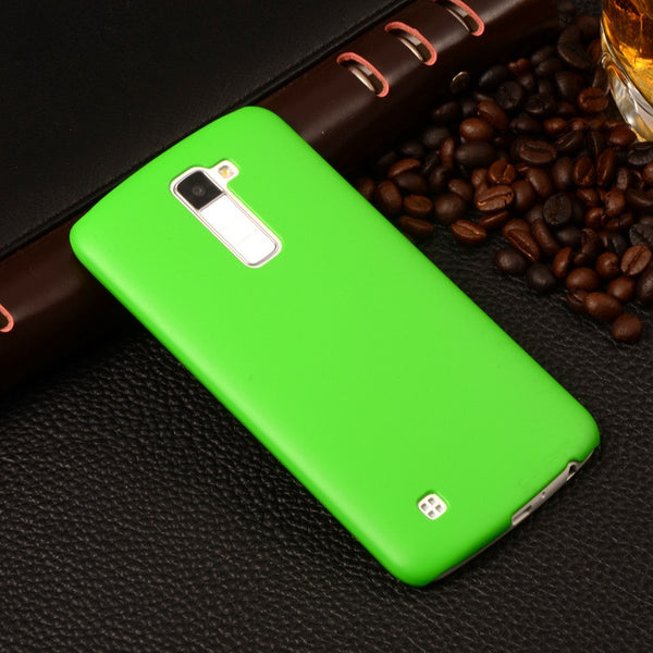 For LG K8 Ultra thin Matte Rubberized Cover Hard Plastic Case For LG K8 Lte K350 K350E K350N K 8 4G Back Protective Phone Cases