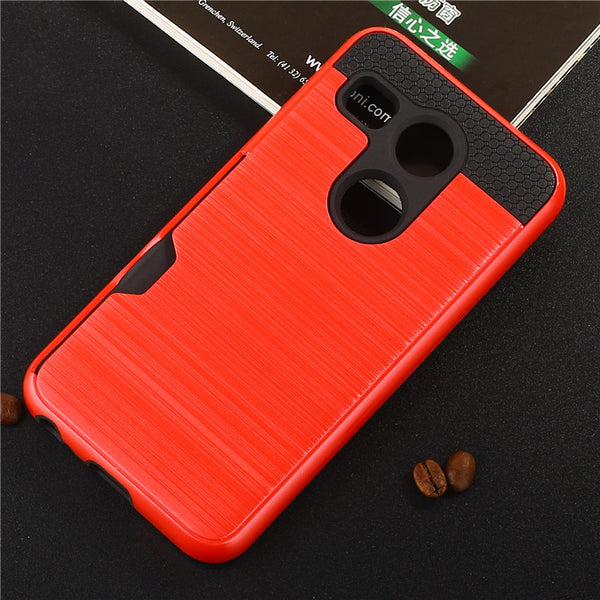 For LG Nexus 5X Case H798 H791F H790 H791 Brushed Armor Rugged Silicone Rubber Hard Phone Cover for LG Nexus 5X w Card Slot (<