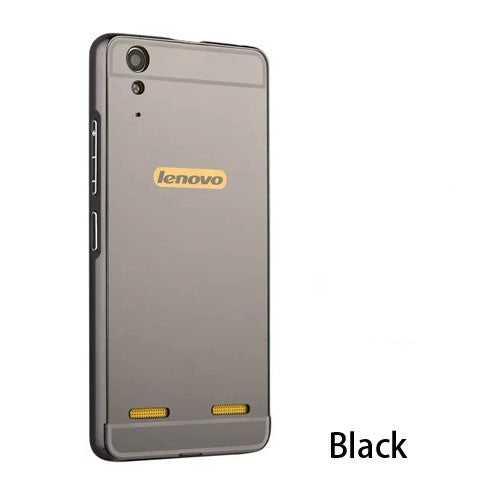 For Lenovo K3 A6000 Plus Lemon K3 Note A7000 Plus Case Luxury HOT Gold Plating Armor Aluminum Frame + Mirror Acrylic Back Cover