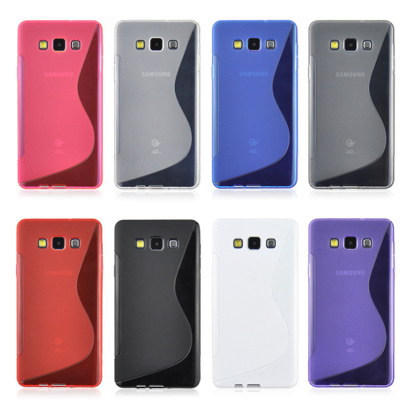 new products 44a71 309ea For Samsung Galaxy A3 Case S LINE Silicone Phone Cover For Samsung A3 2015  Cases A300F A300X A300H 4.5