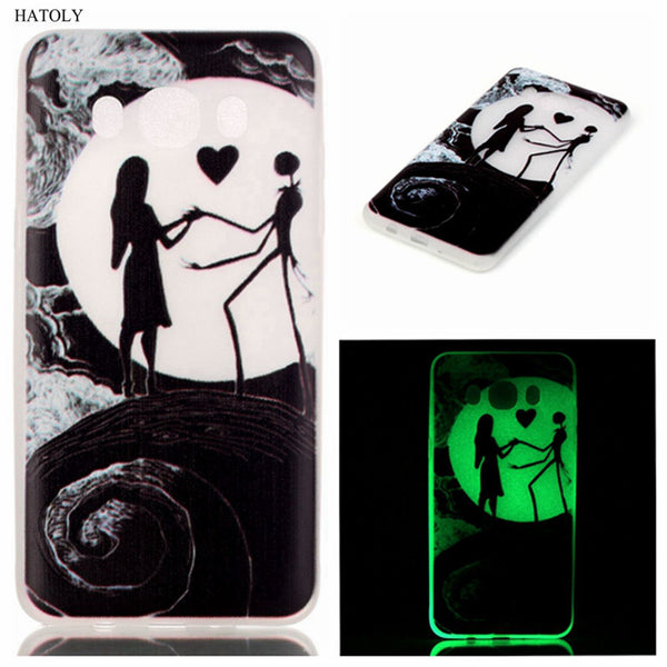 For Samsung Galaxy J7 2016 Glow Case Ultra Thin Embossed Slim Soft Silicone Phone Cases Skin TPU Light Cover For Samsung J710 (<