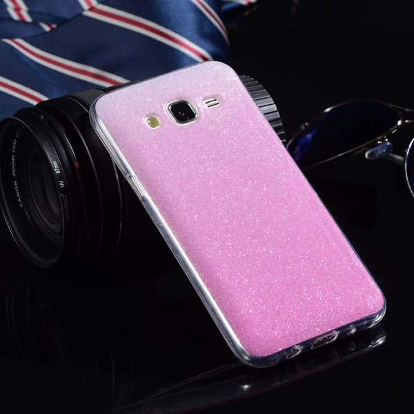 For Samsung J5 Case Silicone Glitter Phone Cover For Samsung Galaxy J5 2015 Cases J500 J500F Luxury Soft TPU Shiny Back Fundas