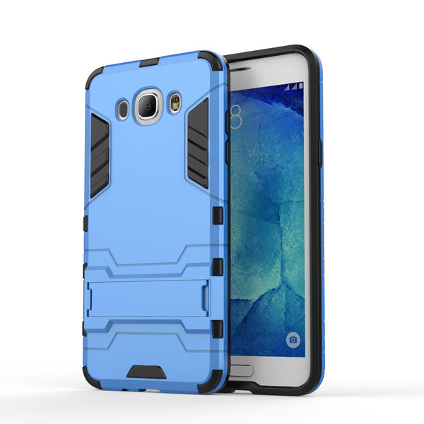 For Samsung J7 2016 Case Silicone & Plastic Anti-Knock Coque Stand Phone Cover Case For Samsung Galaxy J7 2016 J710 Case ><