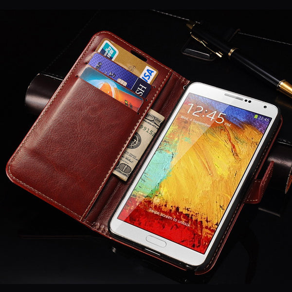 For Samsung Note 3 Flip Cover Wallet PU Leather Case for Samsung Galaxy Note 3 III N9000 Phone Coque Stand Design With Card Slot
