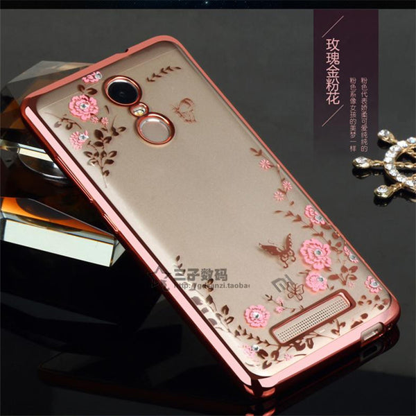 For Xiaomi Redmi Note 4 Pro prime Xiaomi Note2 Mix Max Case Royal Luxury Secret Print Flowers Floral Gilded TPU Soft Back Cover