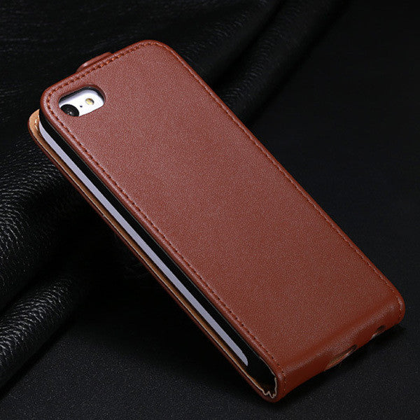 For iphone 6S Cover Genuine Leather Flip Case For Apple iPhone 6 6s 4.7inch Wallet Stand&Vertical Flip Magnetic Chip Phone Cases