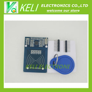 Free Shipping 1PCS LOT RFID module RC522 Kits S50 13.56 Mhz 6cm With Tags SPI Write & Read for arduino uno 2560