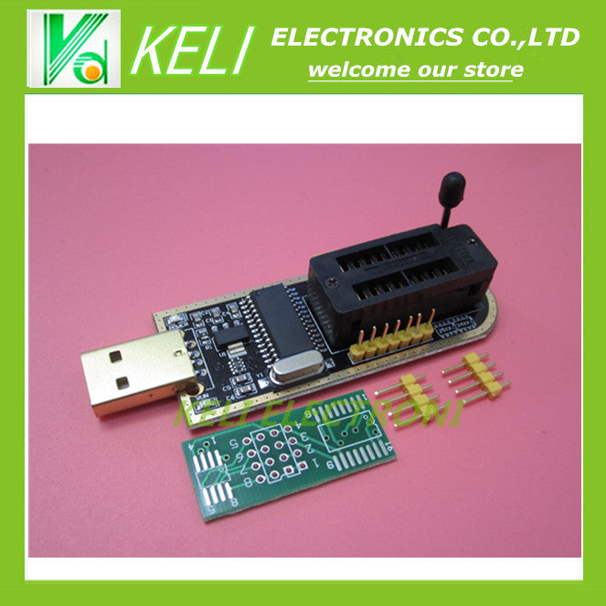 Free Shipping 1pcs CH341A 24 25 Series EEPROM Flash BIOS USB Programmer with Software & Driver