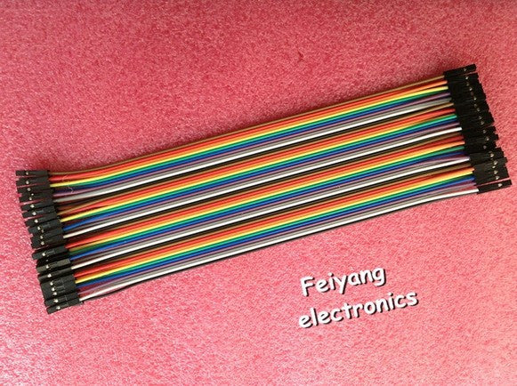 Free Shipping 40pcs dupont cable jumper wire dupont line female to female dupont line 20cm 1P-1P for arduino