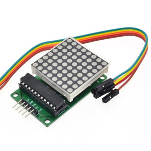 Free Shipping MAX7219 dot matrix module microcontroller module control module display module finished goods