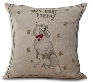 Free Shipping Wholesale 100% New European Style Adorable French Bulldog Dog Series Throw Pillow Cushion For Home Decor