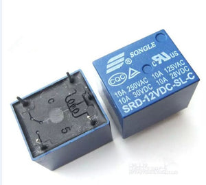 Free shipping 12V DC SONGLE Power Relay SRD-12VDC-SL-C PCB Type