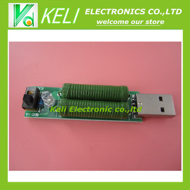 Free shipping 1PCS LOT USB mini discharge load resistor 2A 1A With switch 1A Green led 2A Red led