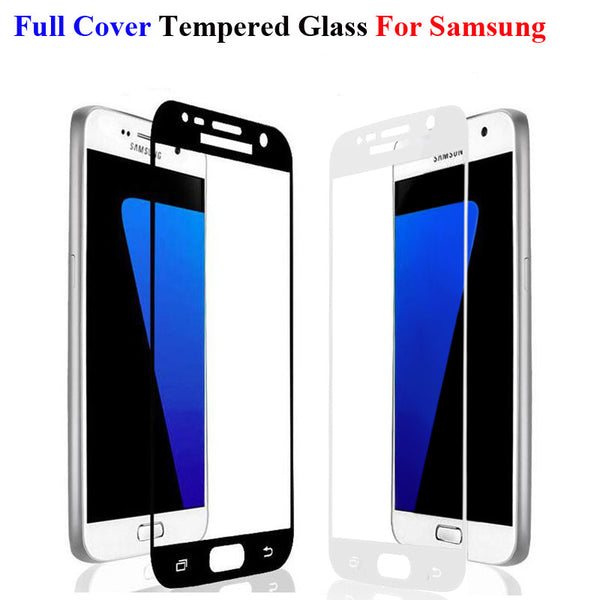 Full Cover Tempered Glass For Samsung Galaxy A5 A7 2016 S4 S5 S6 S7 C5 C7 Note 3 4 5 J5 J7 Prime Screen Protector Toughened Film