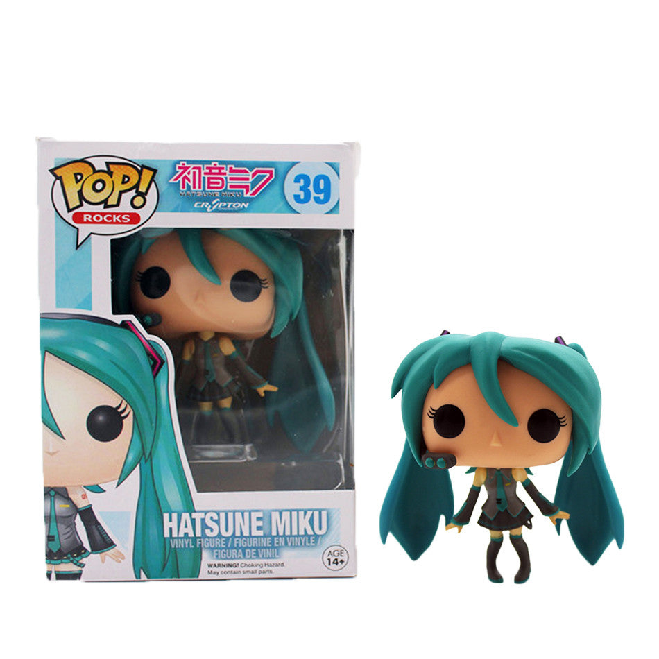 Funko Pop Hatsune Miku Kagamine Rin Len VOCALOID Cosplay PVC Anime TV Hot Vinyl Cute Action Figure Collection Kid's Gifts Toys