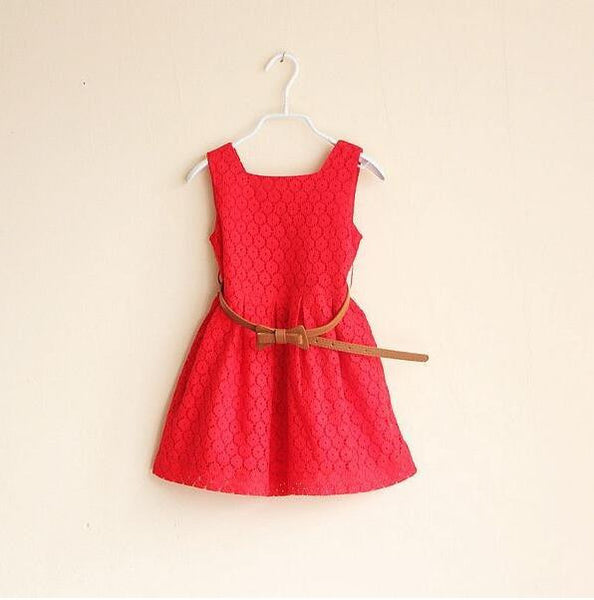 Girls dresses summer 2016 children clothes girls beautiful lace dress quality baby girls dress teenager kids clothes for age 2-6
