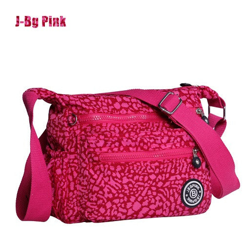 J-bg Pink Cartoon Printing Solid Canvas Handbags Women 001