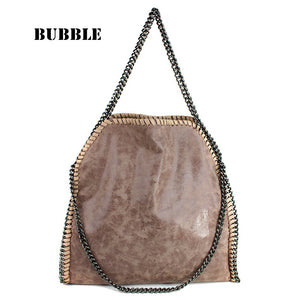 H's Rhyme Chains Solid Pu Handbags Women Gc-001s