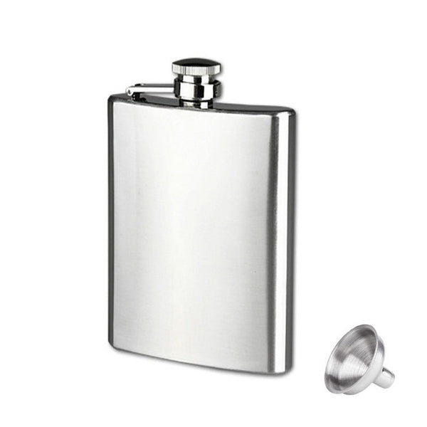 Happy home Bar Accessories 6 Sizes Stainless Steel Pocket Hip Flask Alcohol Whiskey Liquor Screw Cap + Funnel
