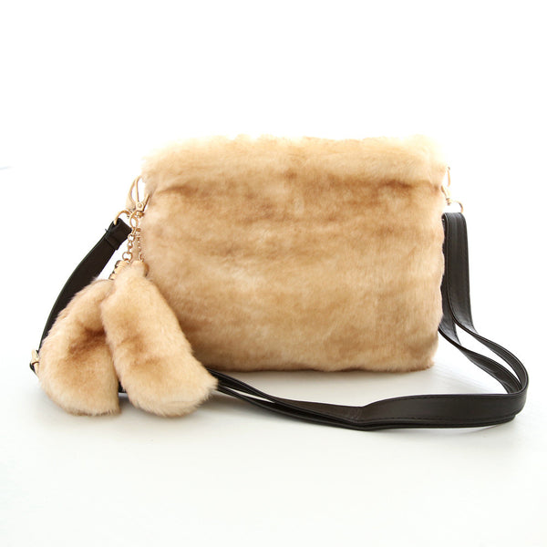 Fur Solid Corduroy Handbags Women 151010m