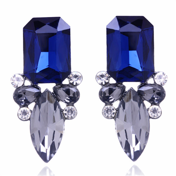 27th Romantic Zinc Alloy Rhinestone Stud Earrings Women Stud Earring
