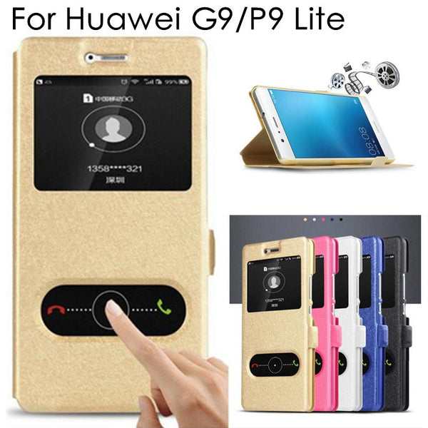 High Quality P9 Lite Flip Case Cover for Huawei G9 P9 Lite PU Leather Phone Bags Cases with Stand Function P 9 Lite Covers