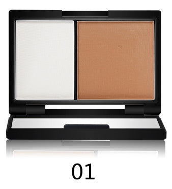 High quality Magical Halo Highlighter 2 Color Contour Bronzer shading Powder Brighten Shading Powder Mirror 3D Facial Makeup 55g