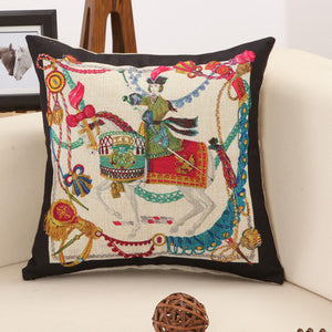 Hot 45*45cm Top Quality Luxury Embroidered Home Sofa Car Decro Cushion Throw Pillowcase Vintage Noble Pillows Sep09