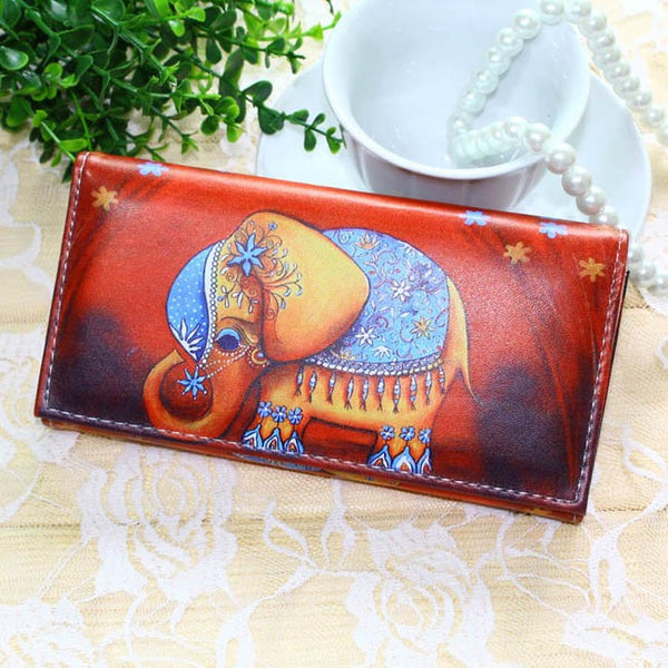 Tonuox Animal Prints Pu Wallet Women Lady Handbags