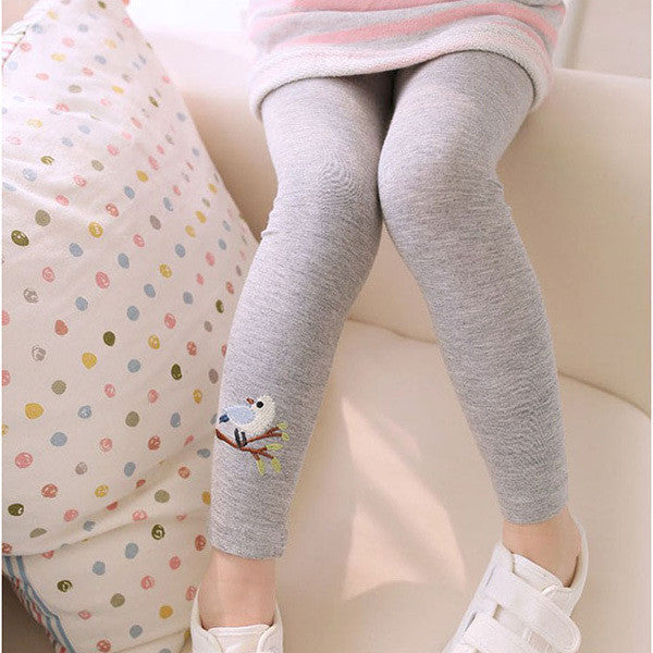 Hot Sell Baby Girl Stretch Leggings Pants Toddler Child Candy Color Trousers