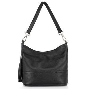 Zency Tassel Solid Genuine Leather Handbags Women Zc0458